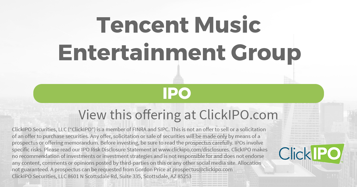 TME IPO | Tencent Music Entertainment Group IPO Price, Date
