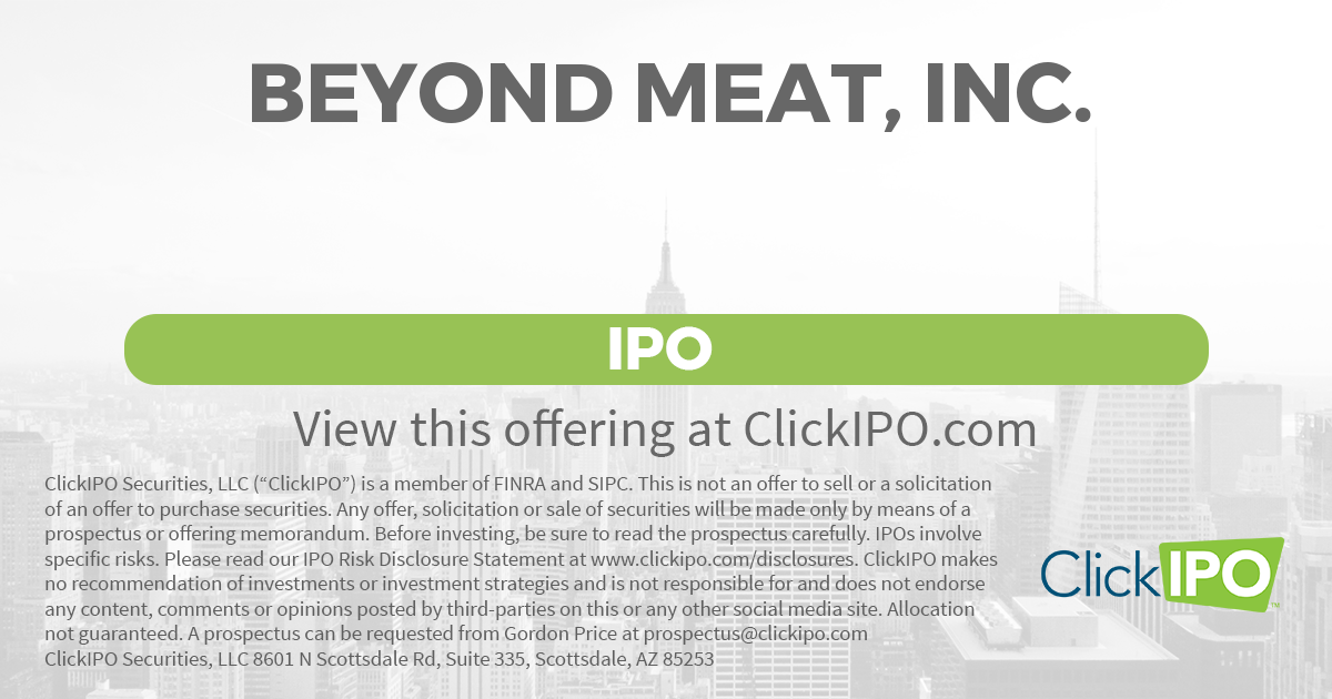 Beyond meat inc bynd ipo