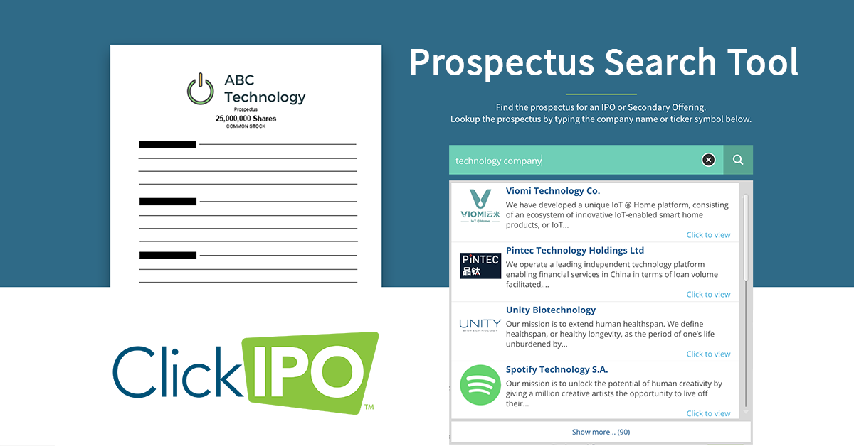 Prospectus Search Find The Prospectus Of An Sec Public Offering